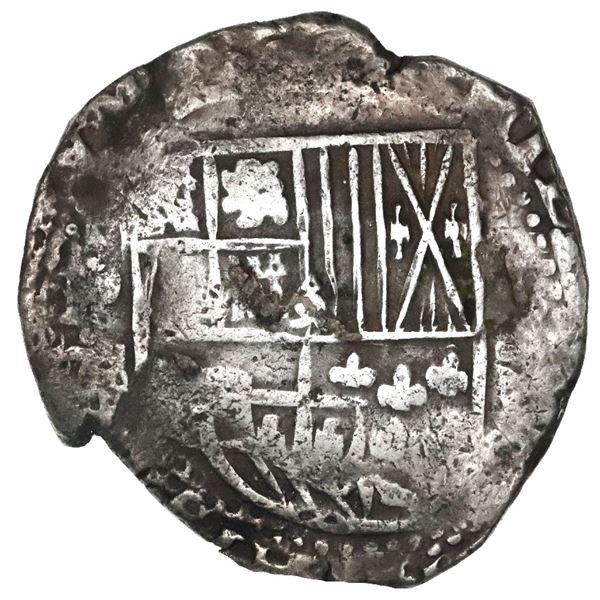 Potosi, Bolivia, cob 8 reales, (16)36, assayer not visible, rare.