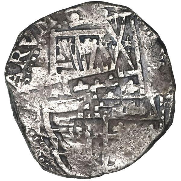Potosi, Bolivia, cob 8 reales, 1637, assayer not visible, rare.