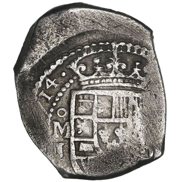 Mexico City, Mexico, cob 8 reales, (1)714J, new style, NGC VF 30, ex-1715 Fleet (designated on speci