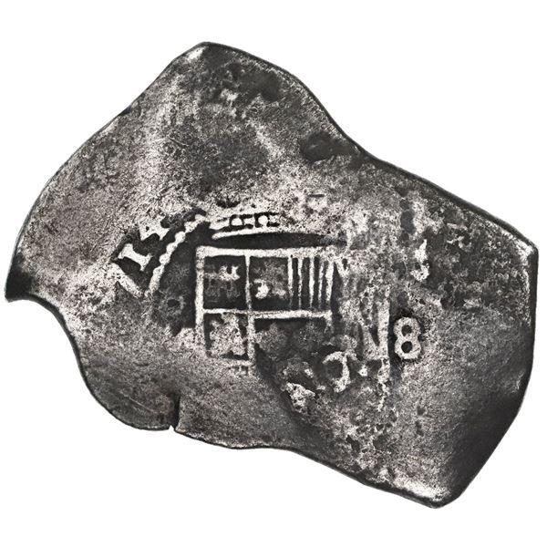 Mexico City, Mexico, cob 8 reales, 1714J, new style.