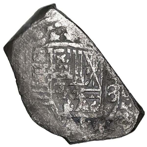 Mexico City, Mexico, cob 8 reales, Philip V, assayer not visible. KM-47; Cal-Type 170. 24.26 grams.