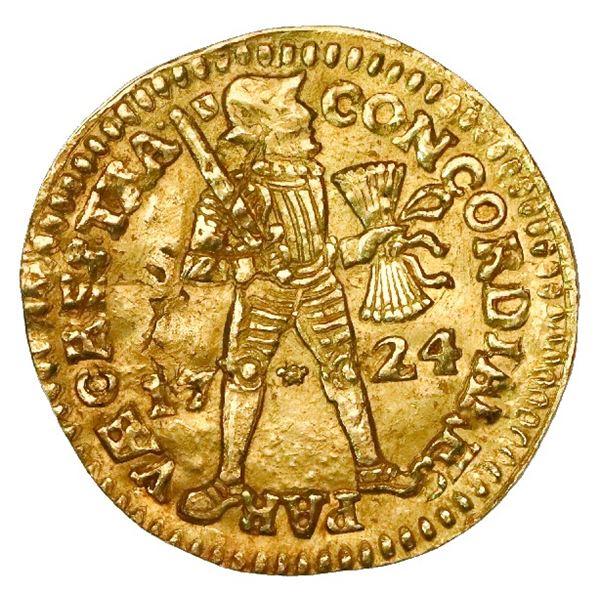 Utrecht, United Netherlands, gold ducat, 1724.