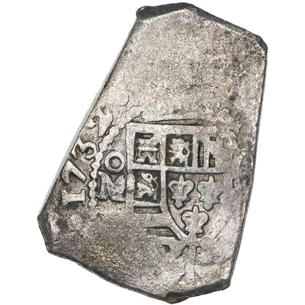 Mexico City, Mexico, cob 8 reales, 1732(F).