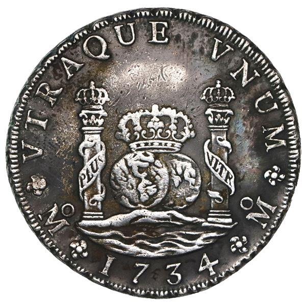 Mexico City, Mexico, pillar 8 reales, Philip V, 1734MF, ex-Ponterio.