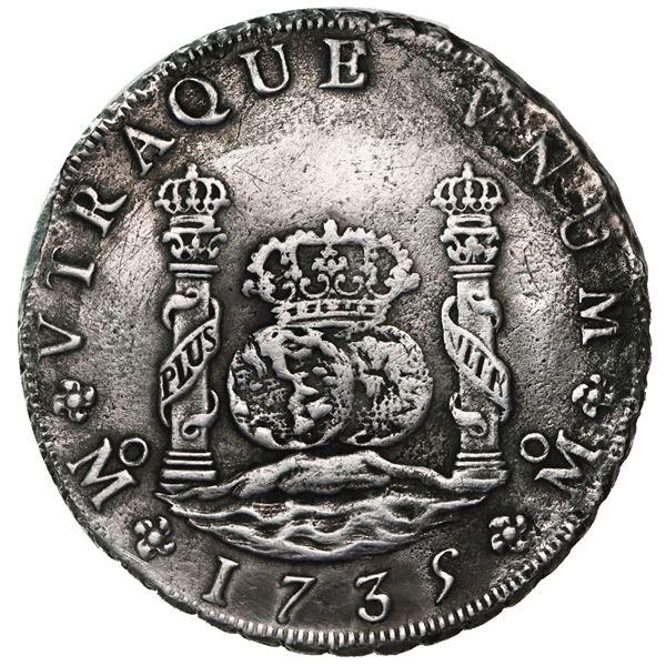 Mexico City, Mexico, pillar 8 reales, Philip V, 1735MF.
