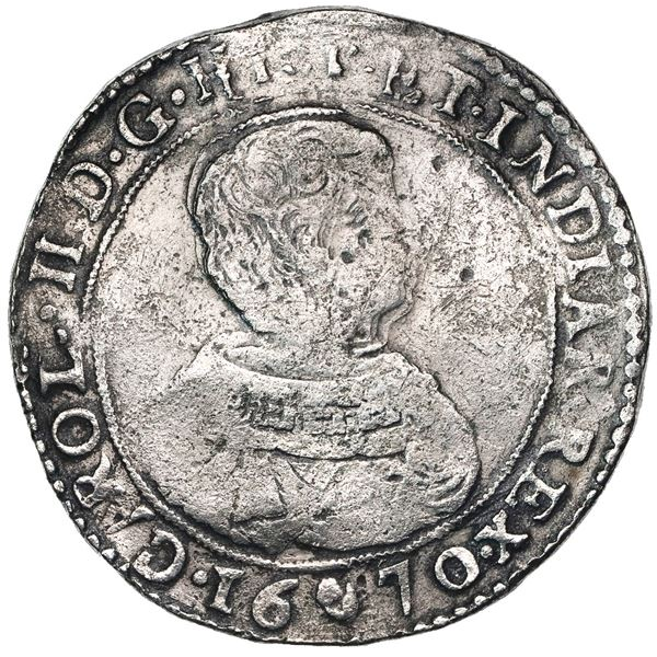 Brabant, Spanish Netherlands (Antwerp mint), portrait ducatoon, Charles II, 1670.