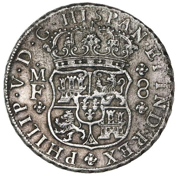 Mexico City, Mexico, pillar 8 reales, Philip V, 1742/1MF.