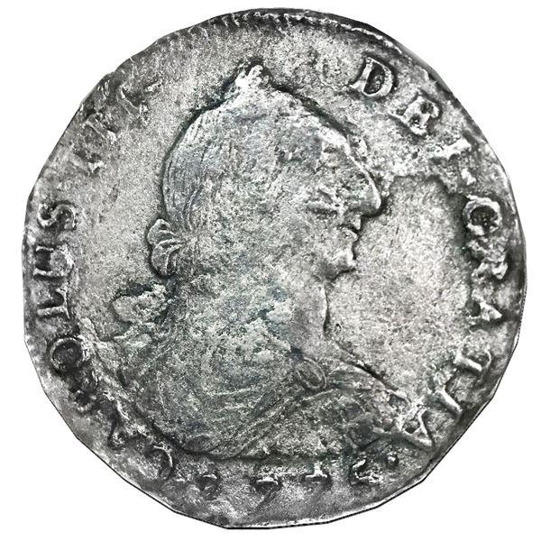 Potosi, Bolivia, bust 4 reales, Charles III, 1775JR, NGC El Cazador / genuine.