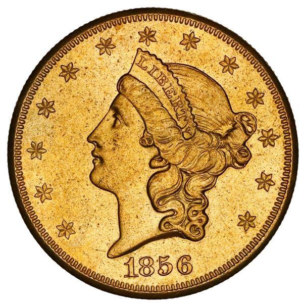 USA (San Francisco mint), gold $20 coronet Liberty double eagle, 1856-S, coin #262, NGC UNC details