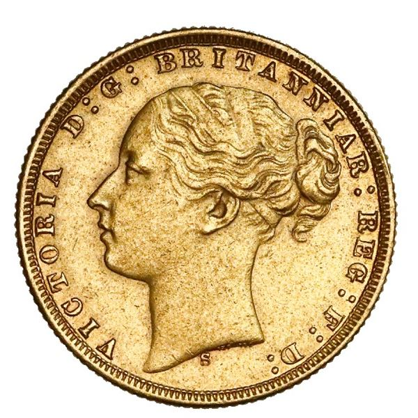 Sydney, Australia (under Great Britain), gold sovereign, Victoria (young head), 1876-S, St. George t