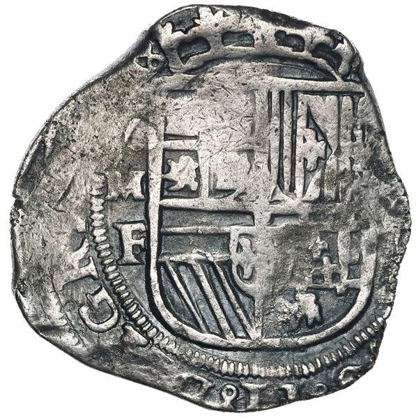 Mexico City, Mexico, cob 8 reales, Philip II, assayer F.