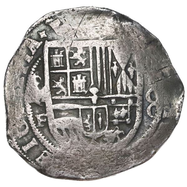 Mexico City, Mexico, cob 8 reales, Philip III, assayer F (pre-1607).