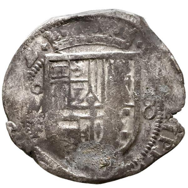 Mexico City, Mexico, cob 8 reales, (161)2F, rare.
