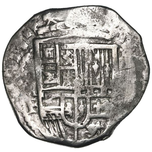 Mexico City, Mexico, cob 8 reales, 1614/3F, rare.