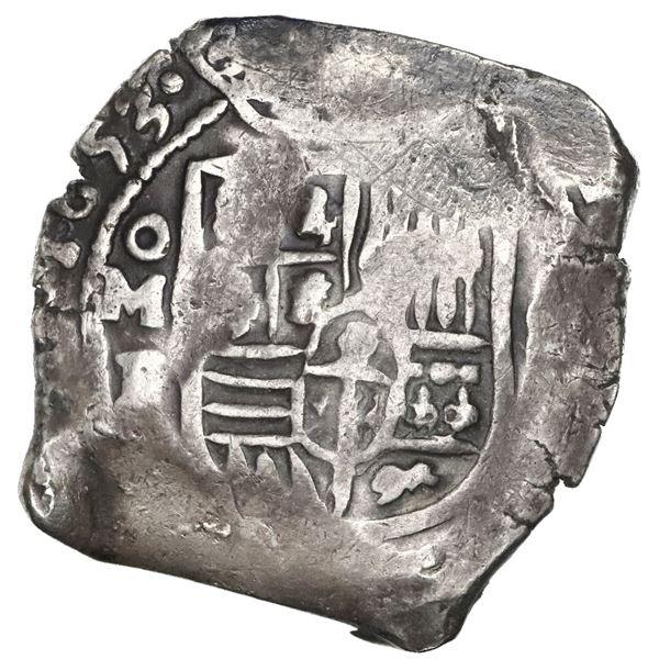 Mexico City, Mexico, cob 8 reales, 1653P.