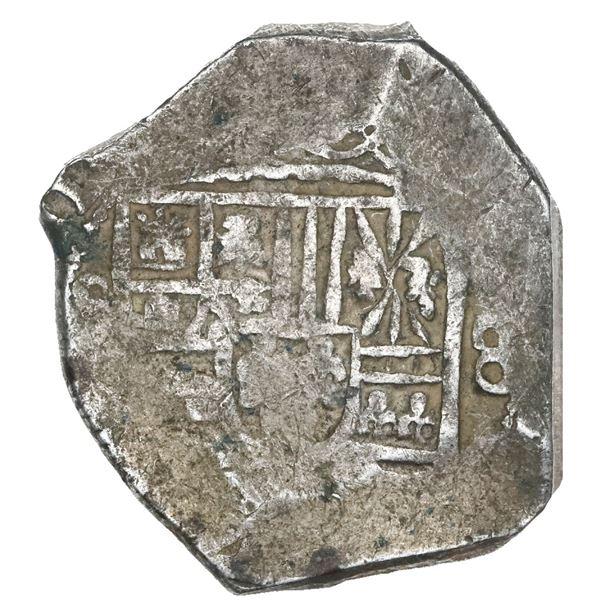 Mexico City, Mexico, cob 8 reales, (17)11(J), rare.