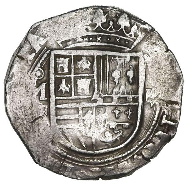 Mexico City, Mexico, 4 reales, Philip II, assayer F/O below mintmark oM to left, denomination oIIII