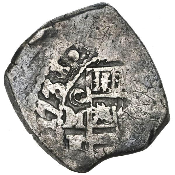 Mexico City, Mexico, cob 4 reales, 1731/0F.