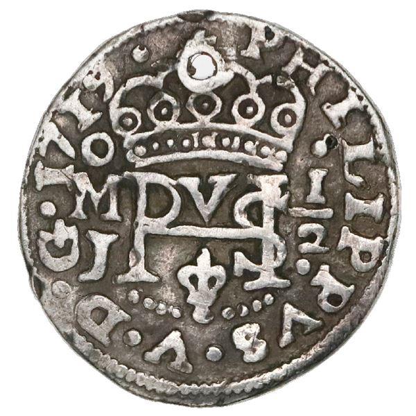 Mexico City, Mexico, cob 1/2 real Royal (galano), 1719J, rare, ex-Santa Rosa de Lima.