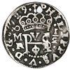 Mexico City, Mexico, cob 1/2 real Royal (galano), 1729/8R/D, extremely rare.