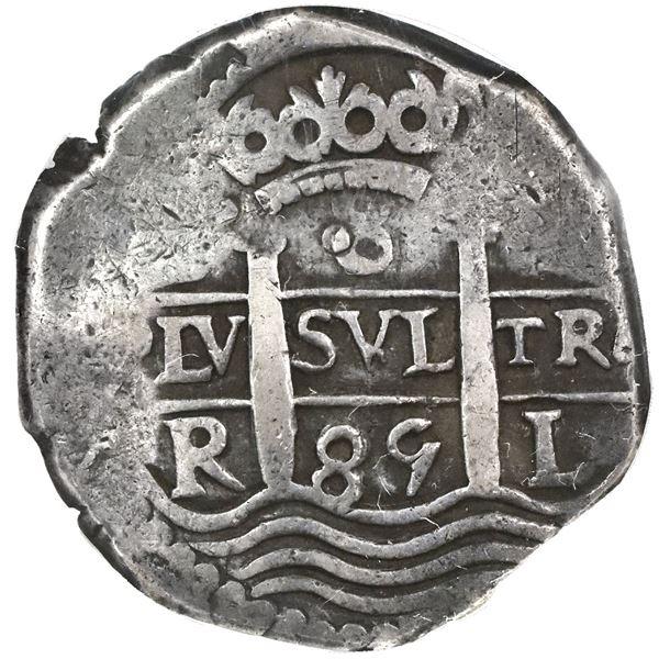 Lima, Peru, cob 8 reales, 1685R, NGC VF 25.