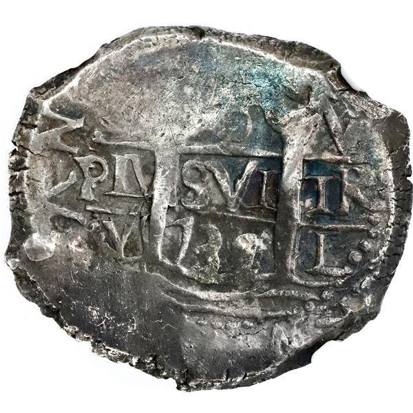 Lima, Peru, cob 8 reales, 1739V, NGC VF 35.