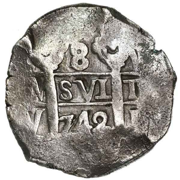 Lima, Peru, cob 8 reales, 1742V.