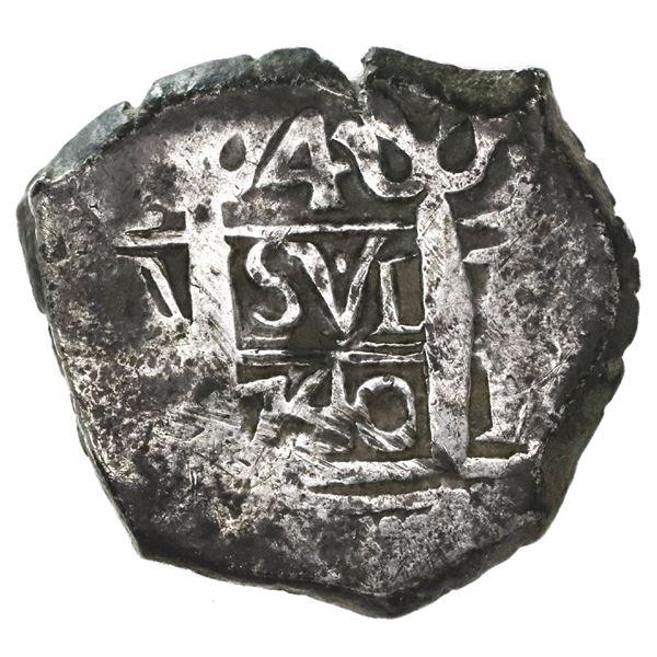 Lima, Peru, cob 4 reales, 1740V.