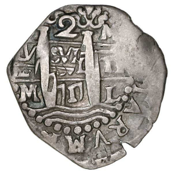 Lima, Peru, cob 2 reales, 1717M.