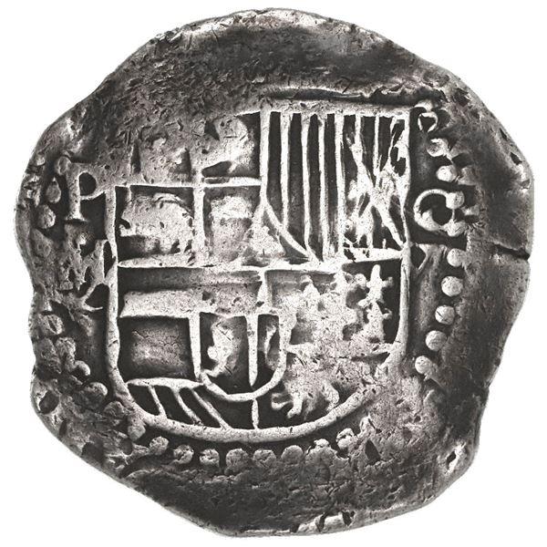 Potosi, Bolivia, cob 8 reales, Philip III, assayer M/Q, rare.
