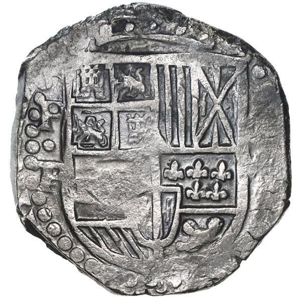 Potosi, Bolivia, cob 8 reales, 1628P/T, rare.