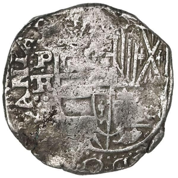 Potosi, Bolivia, cob 8 reales, 1637TR, rare.