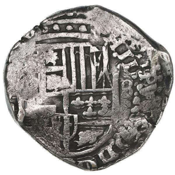 Potosi, Bolivia, cob 8 reales, 1643, assayer not visible, rare.