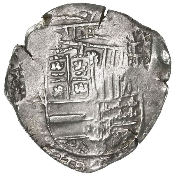 Potosi, Bolivia, cob 8 reales, (16)44T, rare.