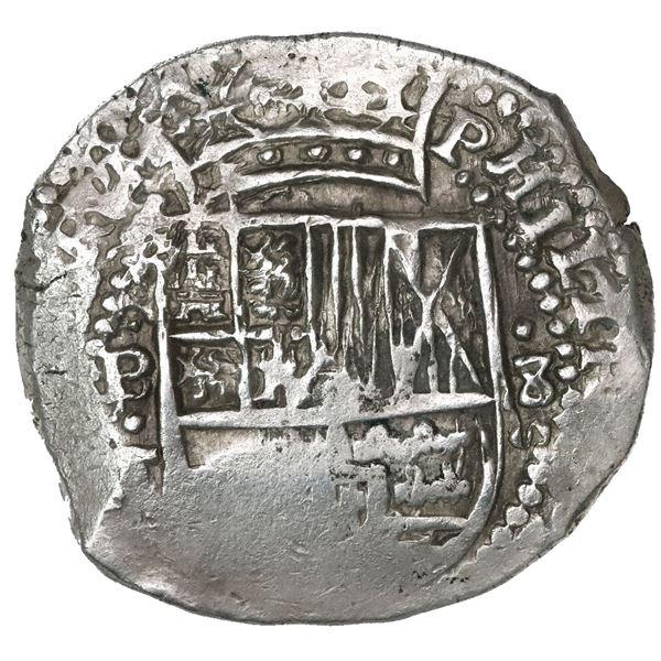 Potosi, Bolivia, cob 8 reales, 1645(?)T.