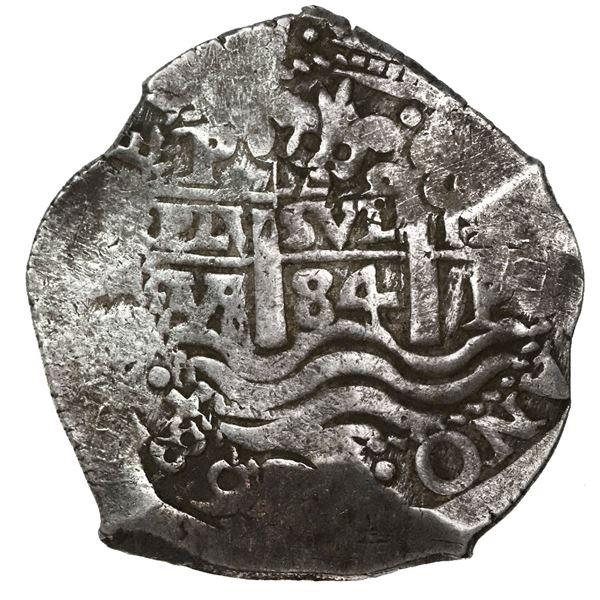 Potosi, Bolivia, cob 8 reales, 1684VR.