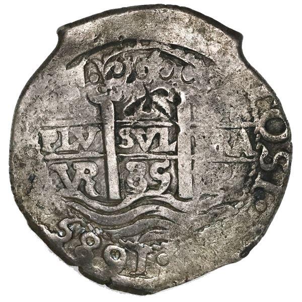 Potosi, Bolivia, cob 8 reales, 1685VR, ex-Association (1707).