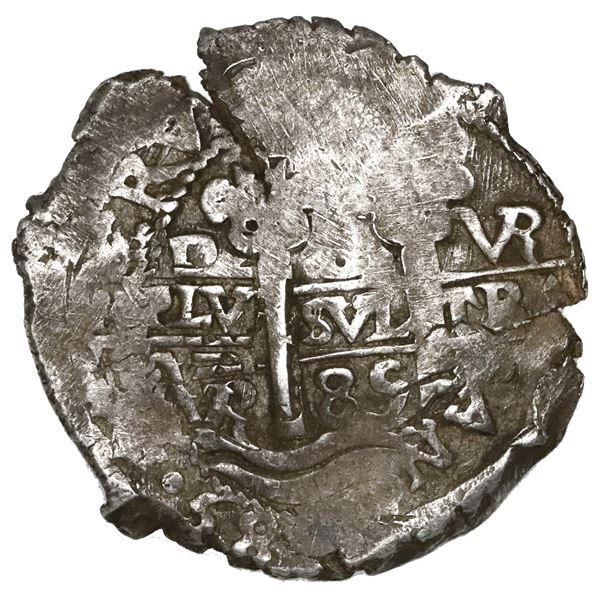Potosi, Bolivia, cob 8 reales, 1685VR.