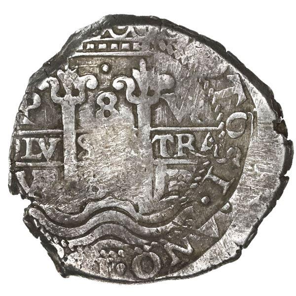 Potosi, Bolivia, cob 8 reales, 1688VR.