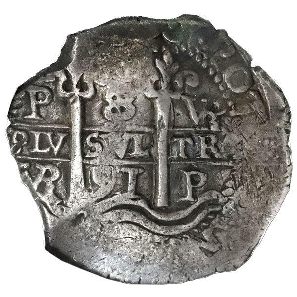Potosi, Bolivia, cob 8 reales, 1691VR, NGC VF 35.