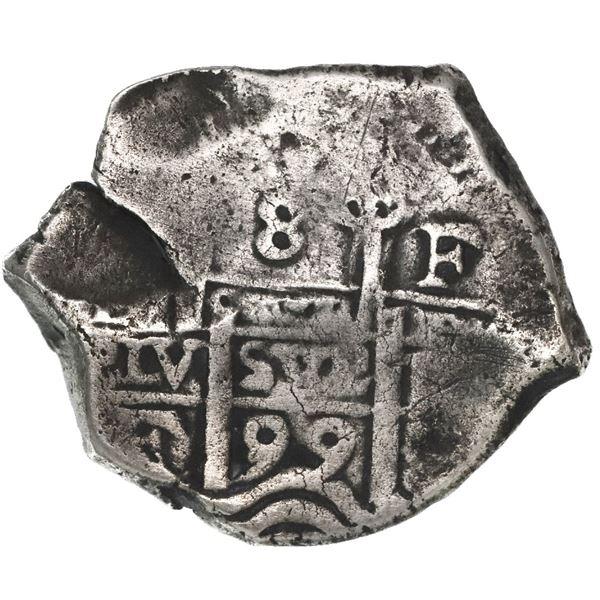 Potosi, Bolivia, cob 8 reales, 1699F, ex-1715 Fleet.