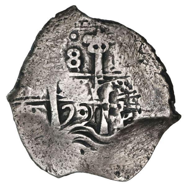 Potosi, Bolivia, cob 8 reales, 1701F.