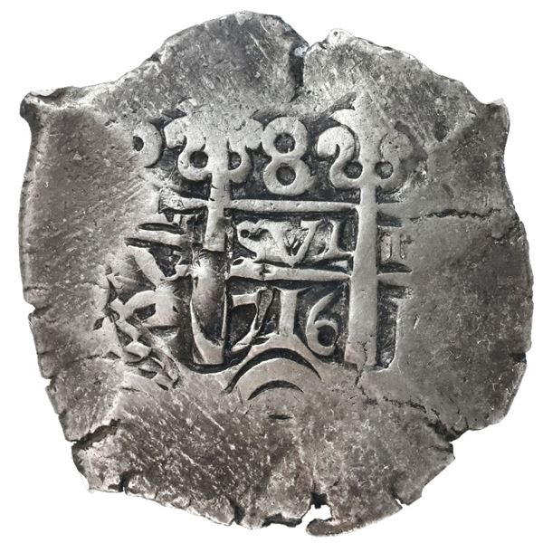 Potosi, Bolivia, cob 8 reales, 1716Y, NGC VF 30, finest and only example in NGC census.