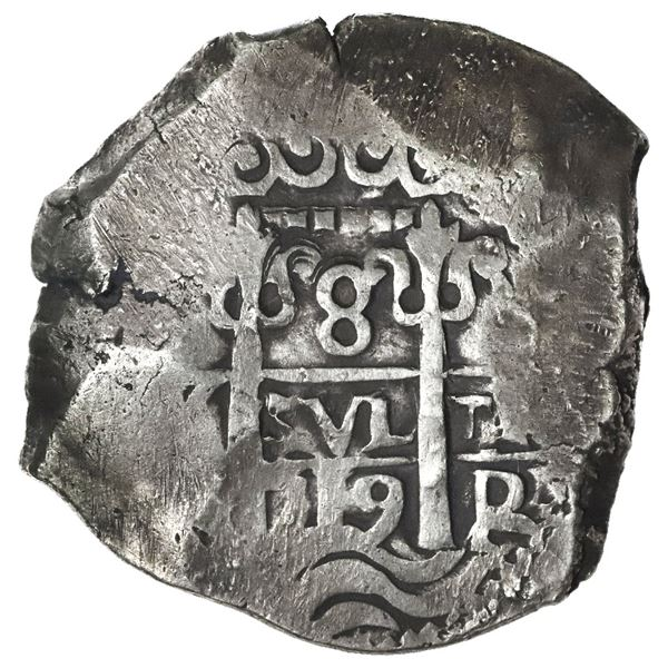 Potosi, Bolivia, cob 8 reales, 1719Y.