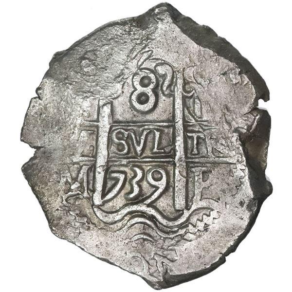 Potosi, Bolivia, cob 8 reales, 1739M.