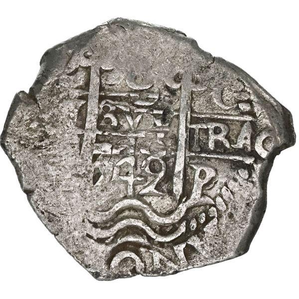 Potosi, Bolivia, cob 8 reales, 1742C.