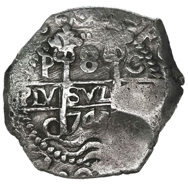 Potosi, Bolivia, cob 8 reales, 1743C.