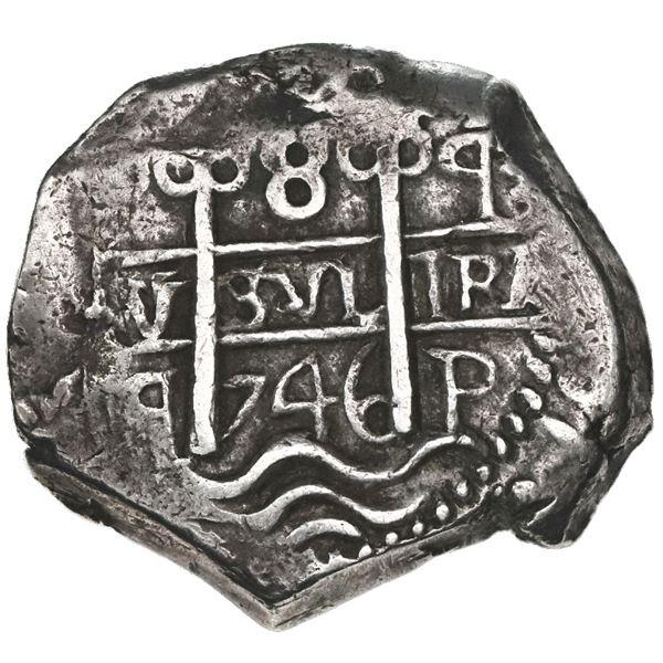 Potosi, Bolivia, cob 8 reales, 1746q.