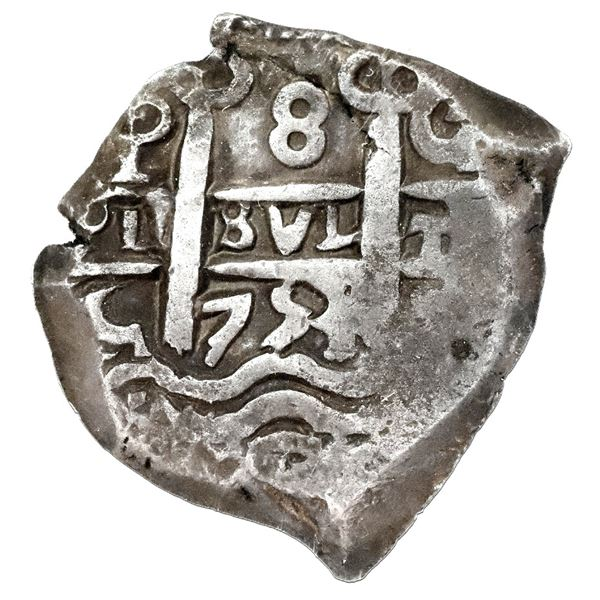 Potosi, Bolivia, cob 8 reales, 1753C, NGC VF 30.
