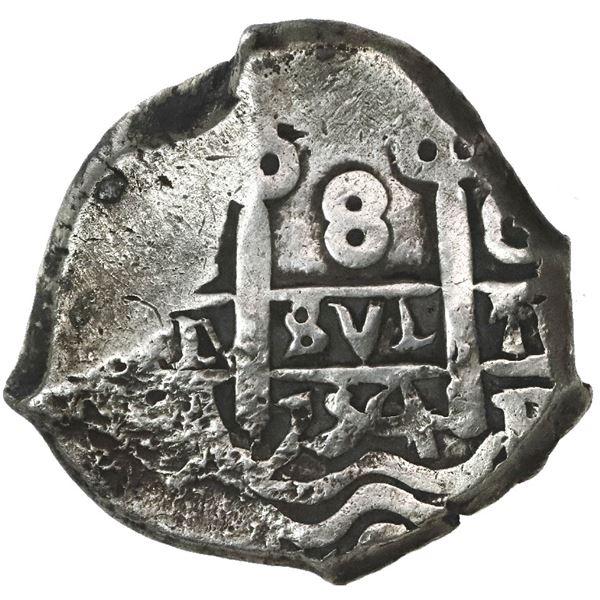 Potosi, Bolivia, cob 8 reales, 1754C+q.